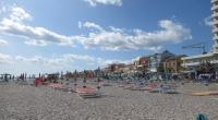 Pohľad na pláž v letovisku Porto Recanati